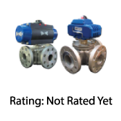 Actuated Stainless Steel 3-Way Flanged Ball Valve